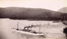 "[C.P.R. S.S. ""Empress of Japan"" passing through First Narrows]"