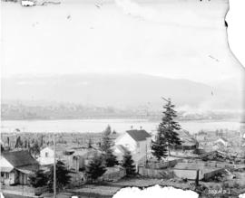[View of Mount Pleasant, False Creek, and downtown from near Westminster Avenue (Main Street) and...