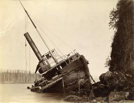 Brockton Point, S.S. Beaver wrecked at entrance to 1st Narrows,Vancouver, B.C.