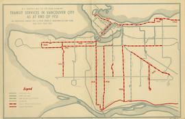 B.C. Electric Rly. Co. Ltd. plan showing transit services in Vancouver city as at end of 1951