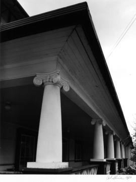 Old Residence building (Byron Johnson House), Crofton House School, porch detail