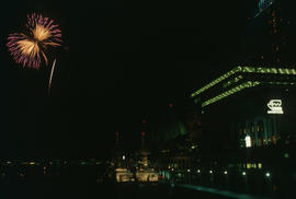 Centennial firework display at Canada Place
