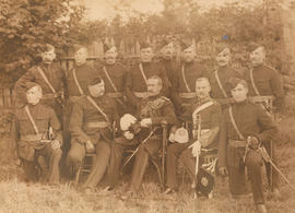 Colonel J.G. Holmes D.O.C. and Officers of the 6th Regiment D.O.C.O.R. at their First Annual Insp...