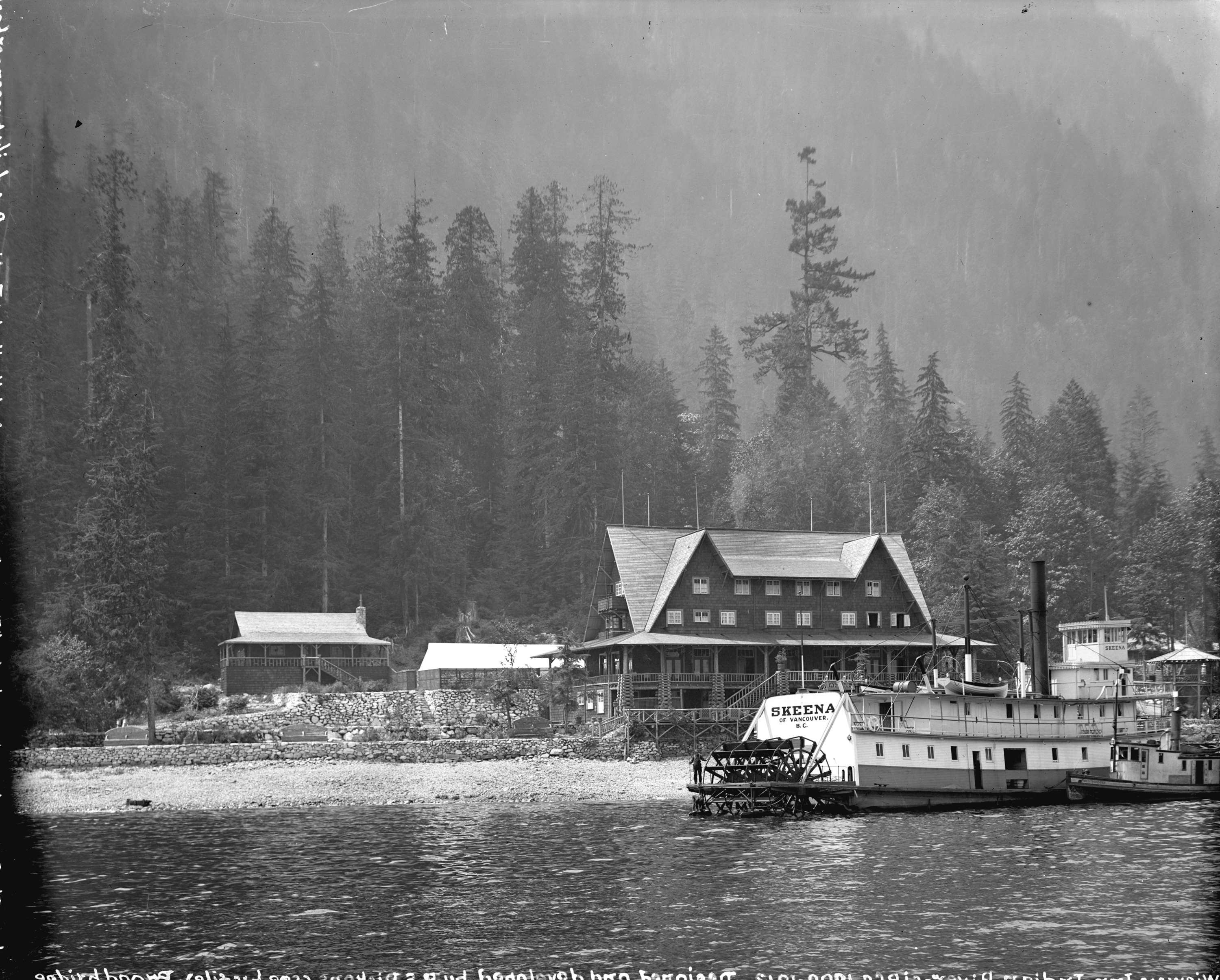 The Sternwheeler Quot Skeena Quot In Front Of The Wigwam Inn City Of Vancouver Archives