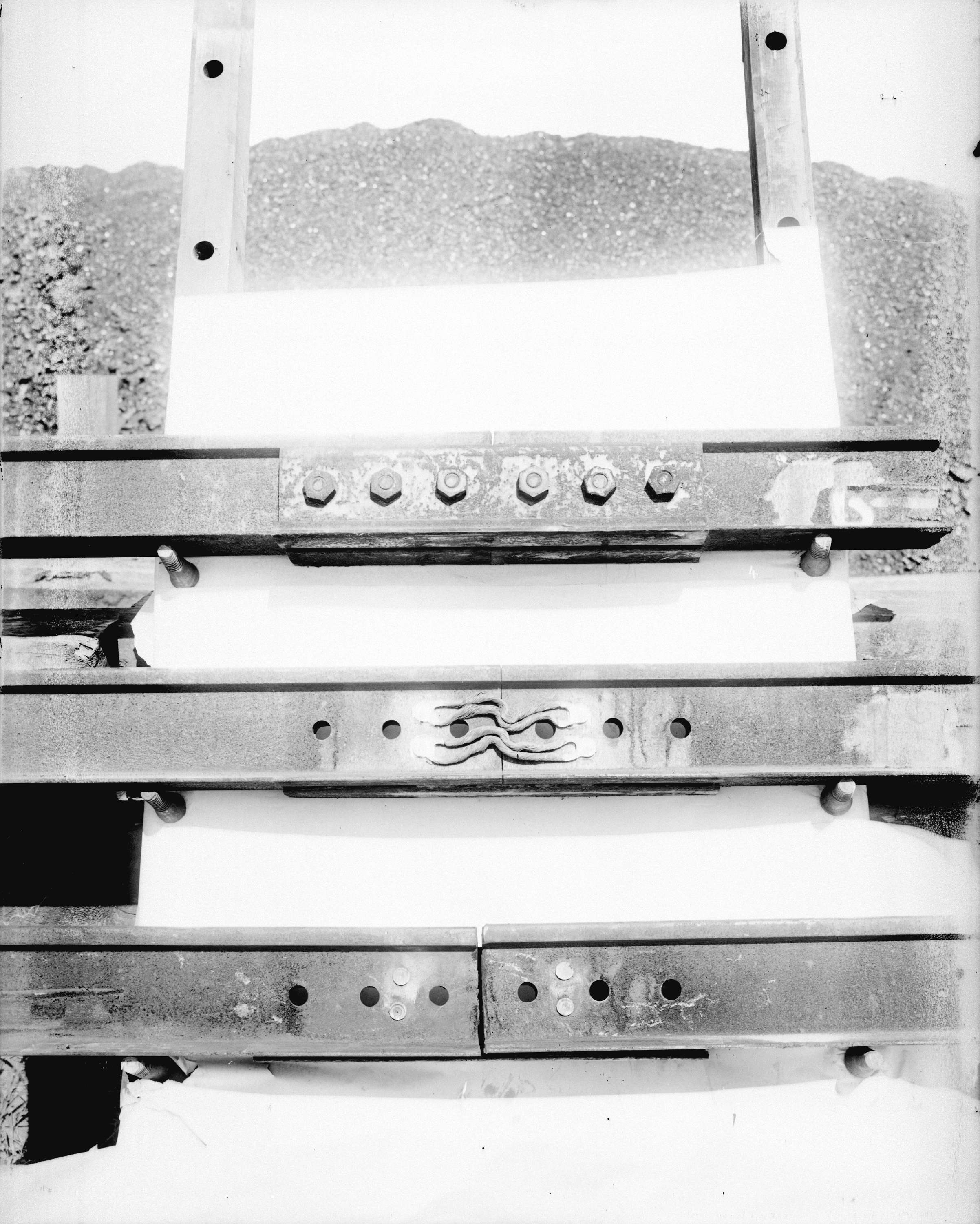 Three rail joints, showing various types of rail bonds