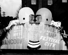 [The City of Vancouver float in the Grey Cup Parade]