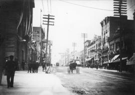 [Hastings Street at Cambie Street, looking west]