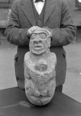 [Stone sculpture, front view]