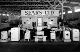 Sears display of household appliances