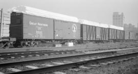 [G.N.R.] Boxcars with Snow