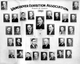 Vancouver Exhibition Association Board of Control 1940 portraits
