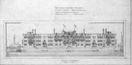 Proposed apartment building, Pacific St., Vancouver B.C. : front elevation