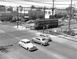 [View of the last Vancouver Lulu Island inter urban tram near 41st Avenue and West Boulevard]