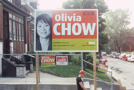 Federal election poster for Olivia Chow, Toronto