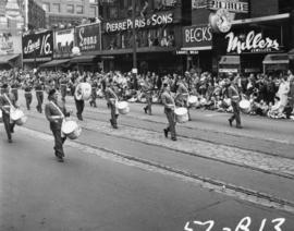 Military band in 1953 P.N.E. Opening Day Parade