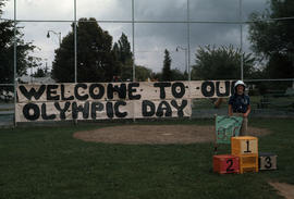 Olympic Day at Carnarvon Park with welcome sign