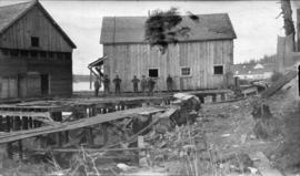 North Pacific Cannery [showing the] new Japanese wharf