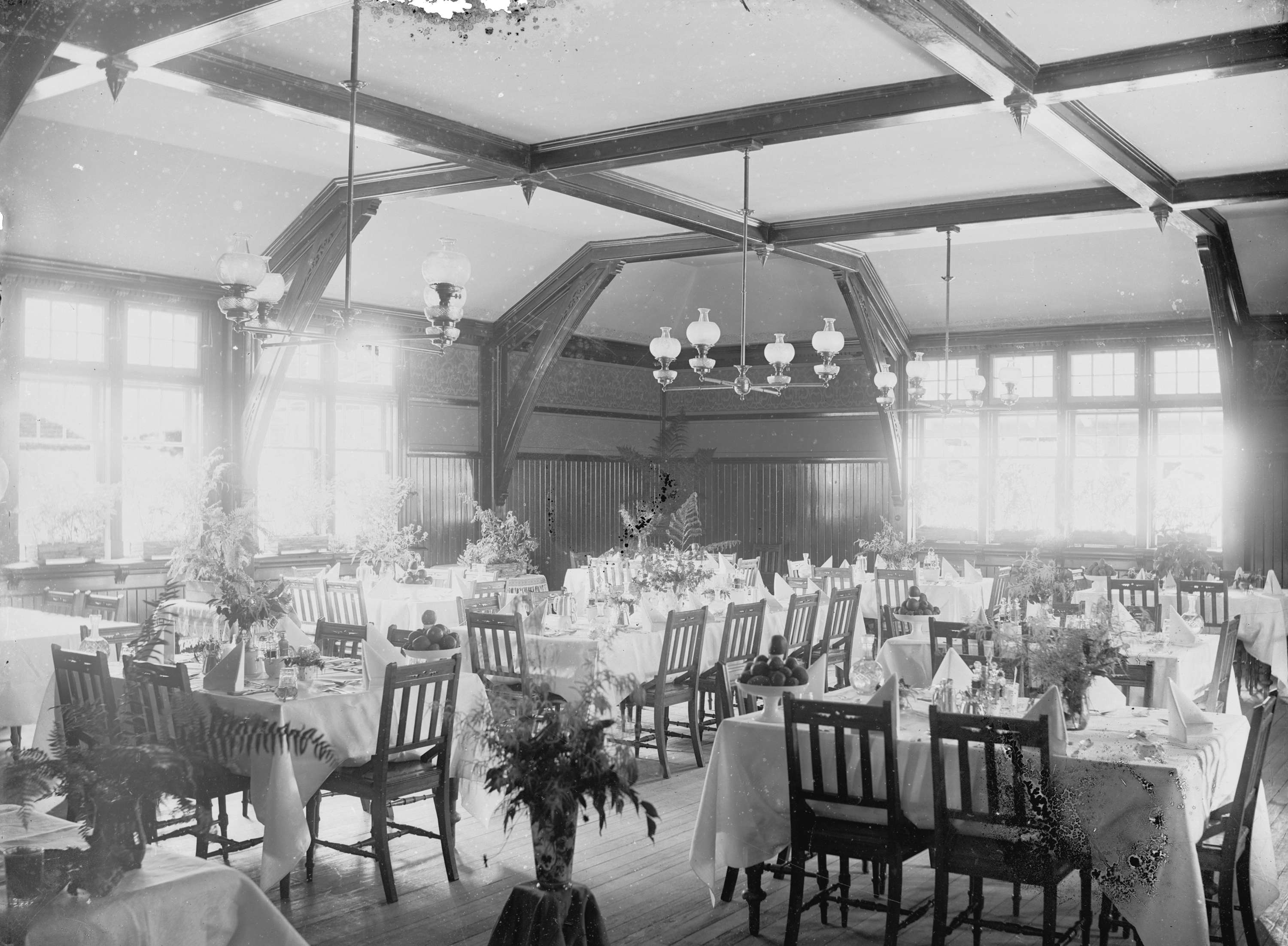 ... C.P.R. Dining Room, Fraser Canyon House, North Bend. Open Original  Digital Object