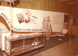 British Columbia Cross-Country skiing display booth