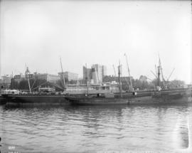 "[C.P.R. ships ""Monteagle"" and ""Melanope"" at dock]"
