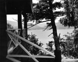 [View of Bowen Island from Cliffhouse at Whytecliff Park]