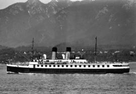 "[S.S. ""Lady Cecilia"" leaving Vancouver Harbour]"