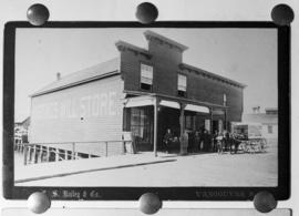 [Reproduction of a C.S. Bailey photograph showing the Hastings Mill Store]
