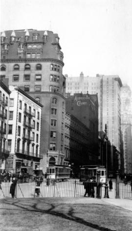 [View of Lower Broadway, New York City]