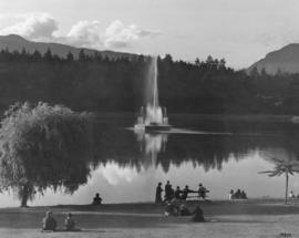 Lost Lagoon fountain