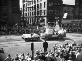 B.C. Salmon Industry float in 1952 P.N.E. Opening Day Parade