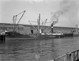[The 'Chilliwack' at dock]