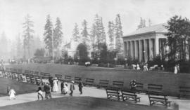 [Partial view of the Alaska-Yukon-Pacific Exposition grounds and buildings]