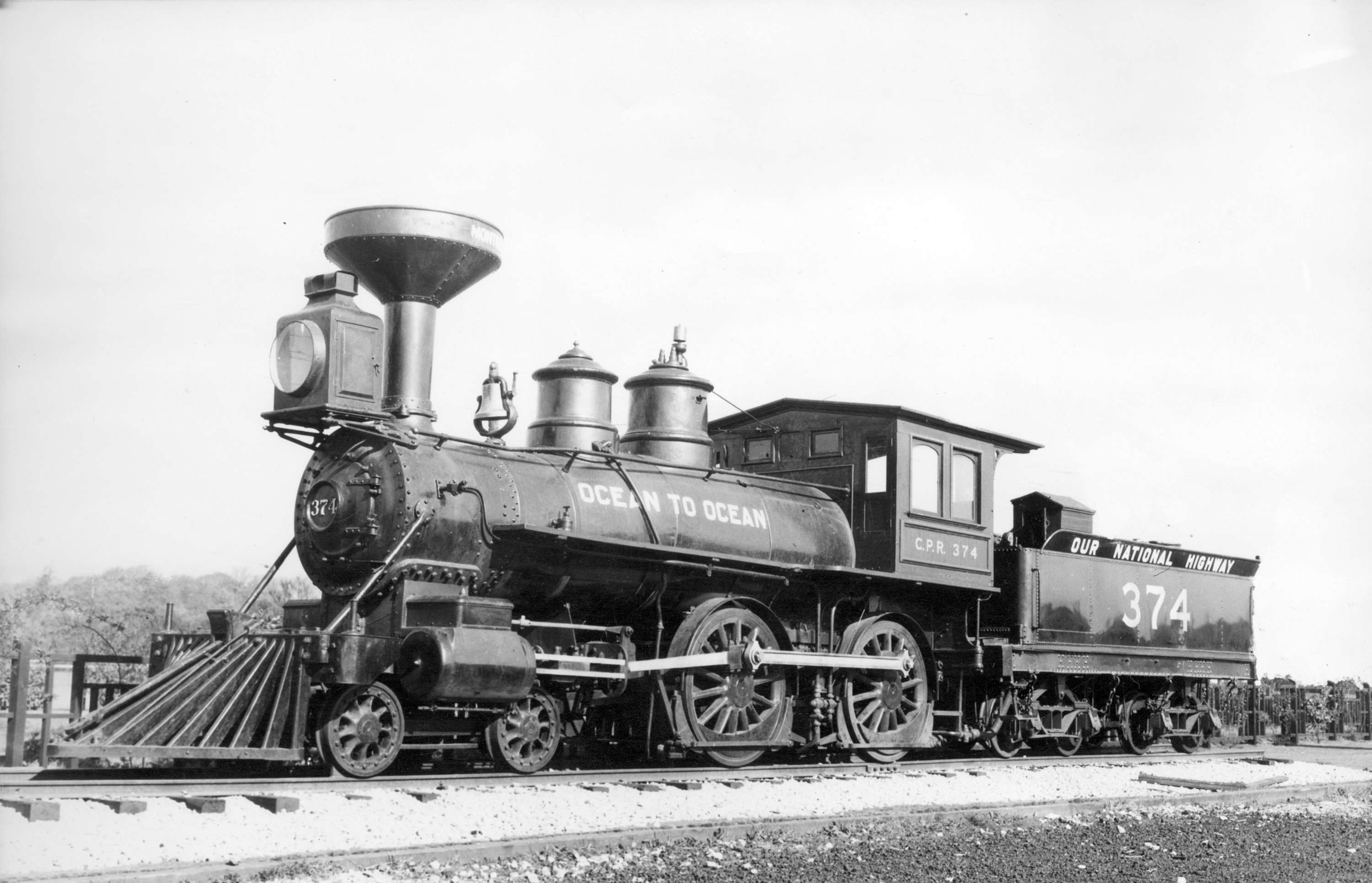 Locomotive 374 First Train in Vancouver, May 23, 1887 ...
