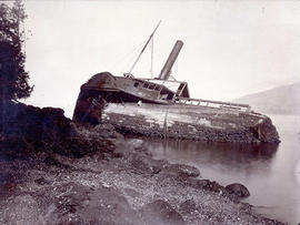 Steamship Beaver wrecked on Prospect Point First Steamer on Pacific, 1835