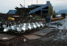 Erecting lights at Nat Bailey [5 of 29]