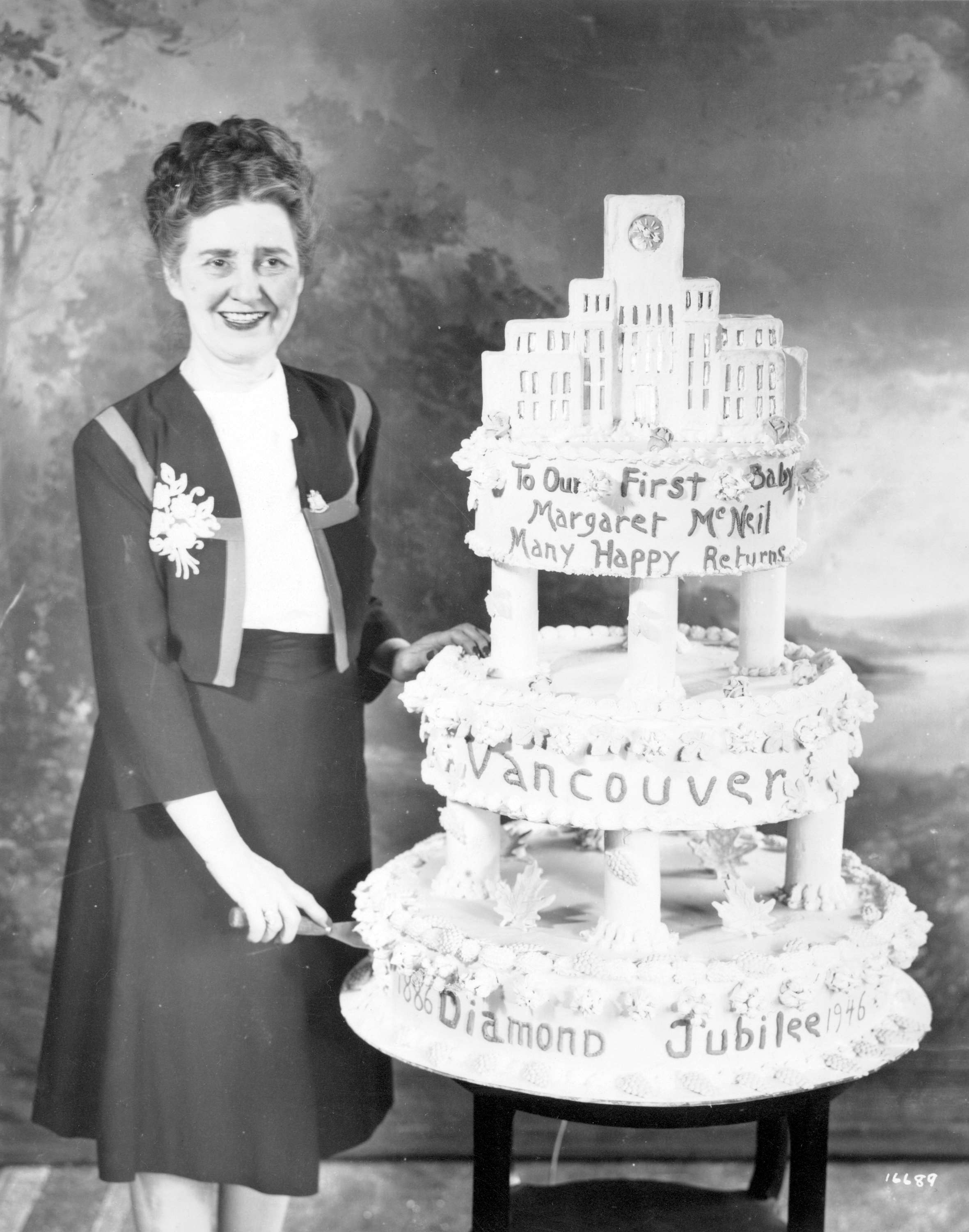 Margaret Florence McNeil and Vancouver Diamond Jubilee cake City