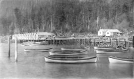 North Pacific Cannery [showing] Indian houses on new wharf