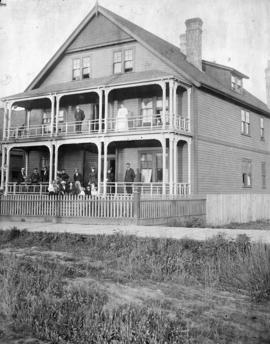 [Exterior of Mrs. C.A. Godfrey's boarding house at 576 (formerly 526) Burrard Street]
