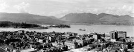 [Northwest view of Vancouver from Dunsmuir and Hornby Streets]
