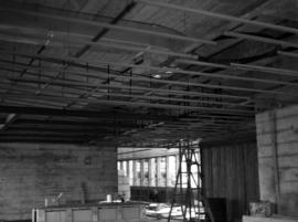 Construction of new office building: celing framing