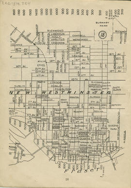 Sectional map and street directory of Vancouver : [McBride Boulevard to Laburnum Street to Eighte...