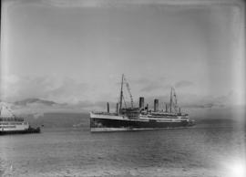 Union Steamship Co. of New Zealand passenger liner - first arrival in Vancouver - thereafter in r...
