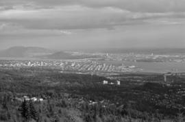 [View of Second Narrows Bridge and Downtown] from Cypress Bowl Road