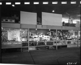 North Shore Rock and Gem Club and Oakalla Women's Division displays in 1957 P.N.E. Hobby Show