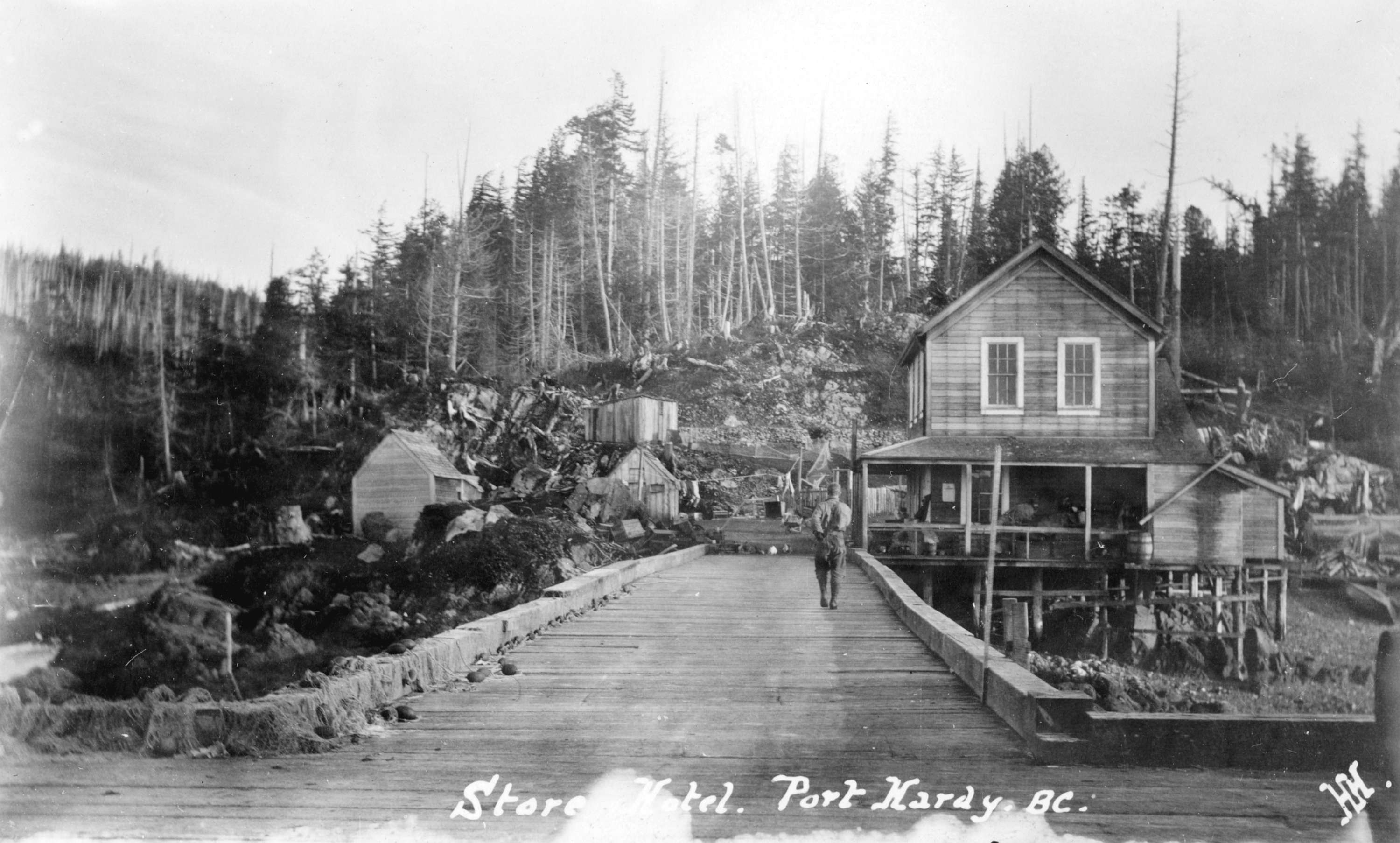 Store And Hotel Port Hardy B C City Of Vancouver Archives