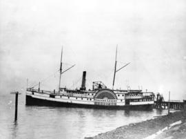 Photograph taken just prior to steamer being dismantled by Vancouver Dredging and Salvage Company...
