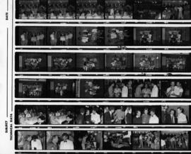 Contact sheet of 1985 Gay and Lesbian Summer Games photographs