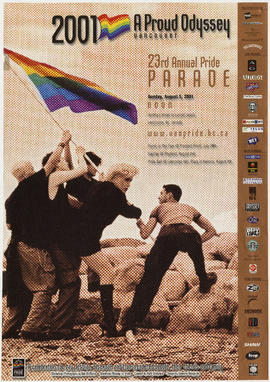 A proud odyssey, Vancouver : 23rd annual pride parade : Sunday, August 5, 2001