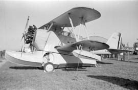 [U.S. Navy amphibious airplane at airshow]