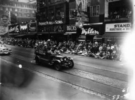 Shrine Circus car in 1953 P.N.E. Opening Day Parade